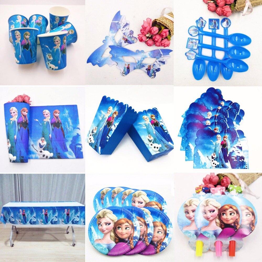 108x180cm de fiesta Artículos de Elsa y Anna Mantel tema del partido para los niños feliz cumpleaños Decoración Elsa y Anna Party