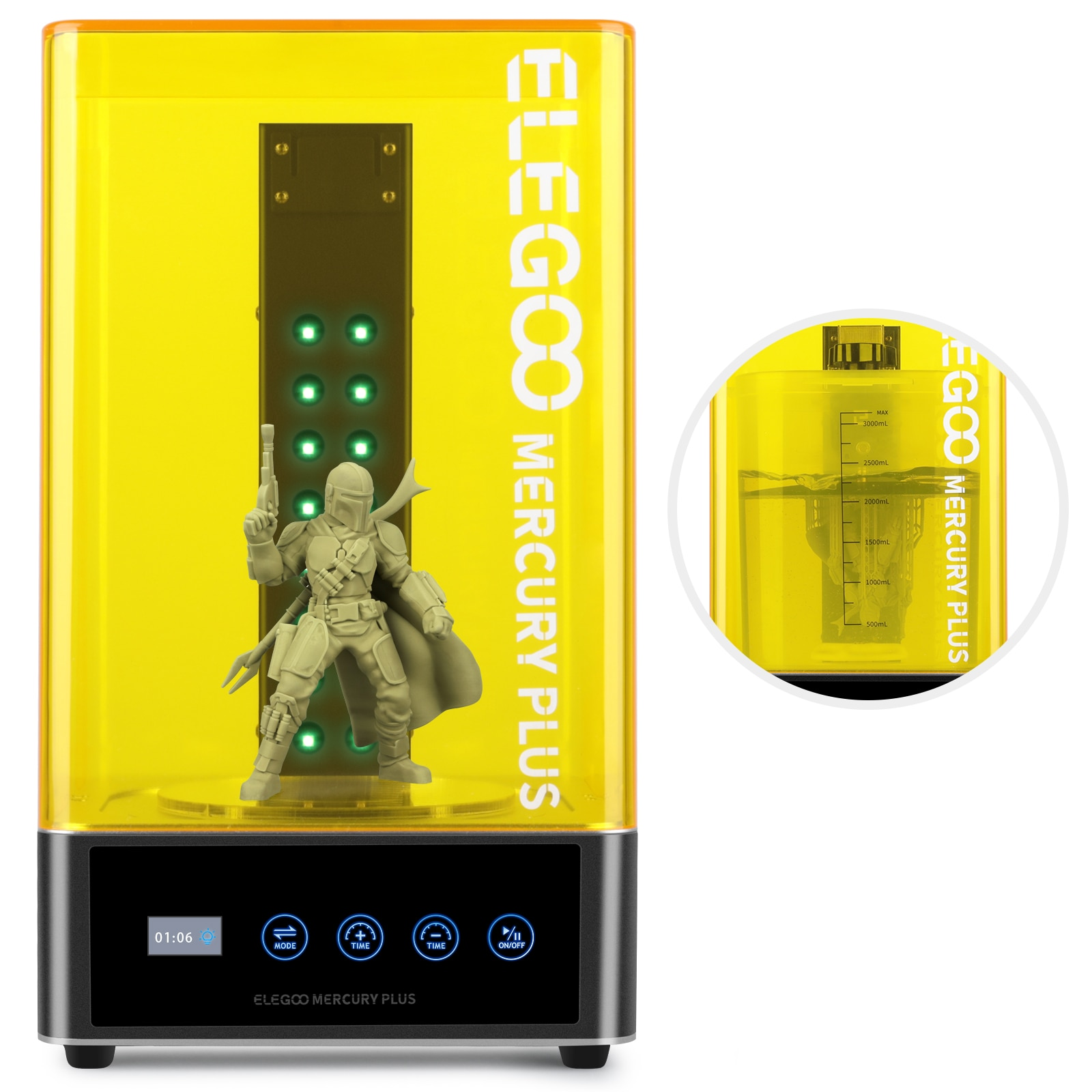 ELEGOO 3D Printer Wash And Cure Machine for Curing Models 2-in-1 Washing and Curing Cure models with Sealed Washing Container