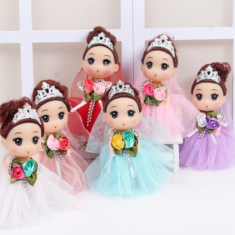 Poupée princesse pour fille, 10 pièces, petit pendentif, chaîne à clés, poupée de mariée, cadeau danniversaire de saint-valentin créatif pour filles