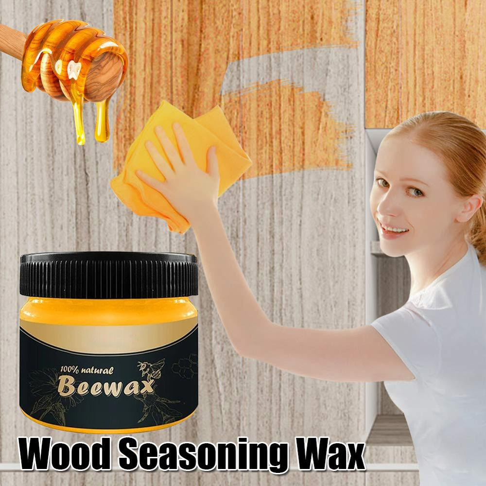 Natural Pure Wood sazoning Beeswax impermeable Solid abeja-wax Solución completa muebles cuidado cera de madera limpiador