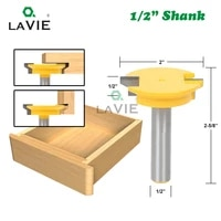lavie 12mm 12 straight drawer molding router bit drawer lock tenon knife plug wood milling cutter door woodworking tool mc03005