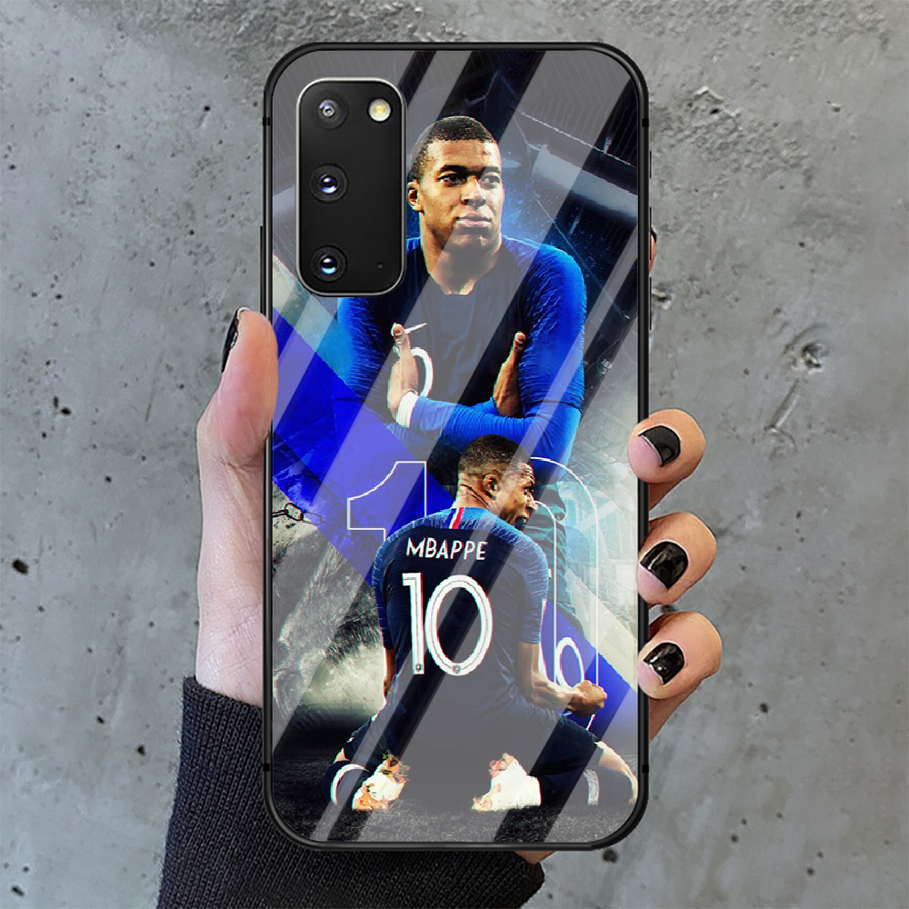 Kylian Mbappe football Phone Tempered Glass Case Cover for Samsung Galaxy A M 10 12 20 21 30 31 40 50 51 52 70 71 72 E S Cell  - buy with discount