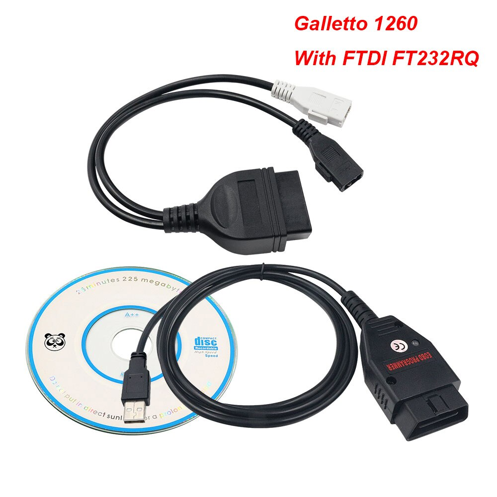 2019 Best Quality Galletto 1260 ECU Chip Tuning Tool EOBD Flasher ECU Flasher Green PCB FTDI FT232RQ Read&Write Free Ship