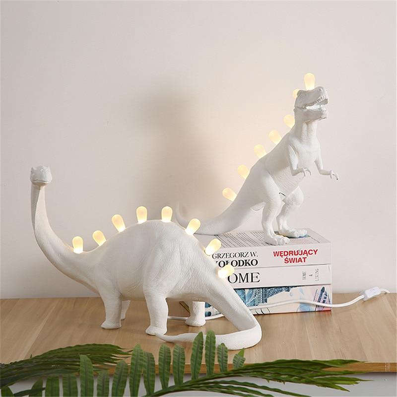 Dinosaur Night Light Table Lamps Bedroom Resin Brontosaurus T-Rex Led Desk Lamp Luminaire Home Art Decor Light LEDS for Children enlarge