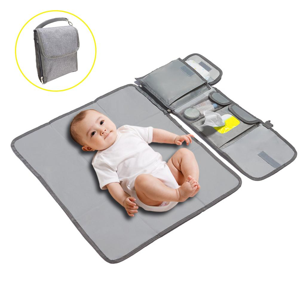 Bebé cambiar mat bolsa momia impermeable cochecito de bebé portátil cambiar pañales pad, cambio de pañal embrague para Camping viaje