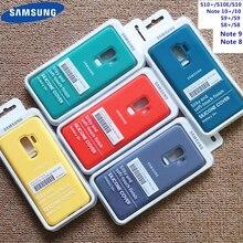 Funda de silicona líquida para Samsung, funda Original suave y sedosa para Galaxy S10 + S10E S8 S9 S10 S20 Plus Ultar Note 8 9 10 Plus N10 +