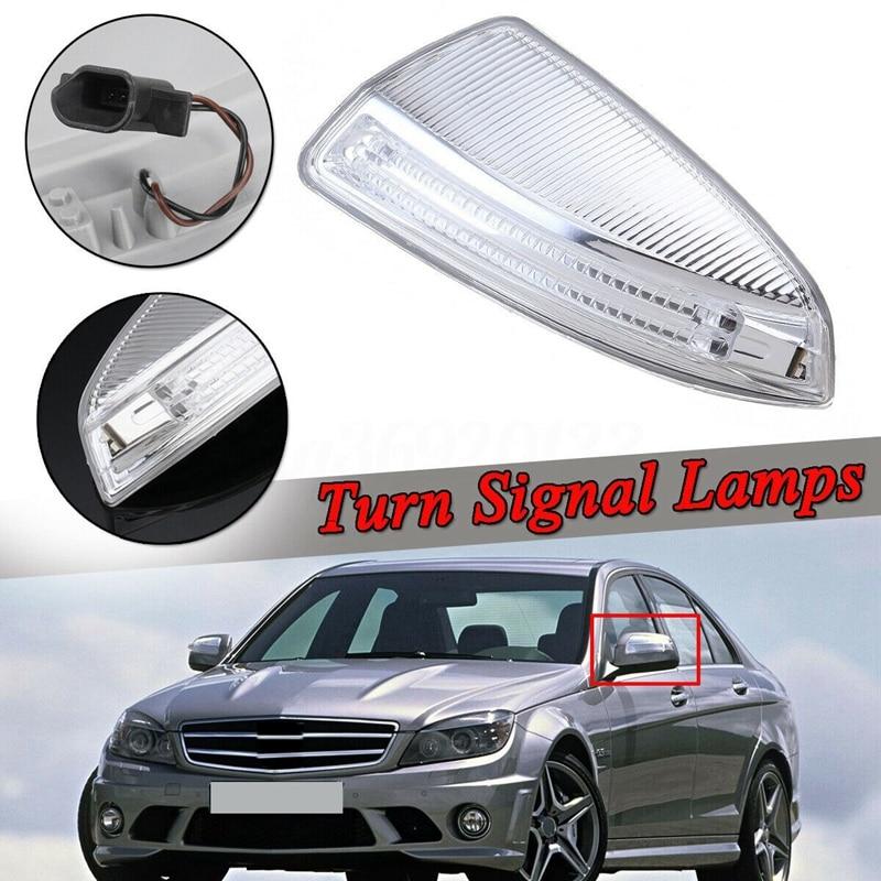 Lâmpadas de luz de led de porta lateral, luz de seta espelhada da porta para mercedes-benz w204 w164 ml classe ml300