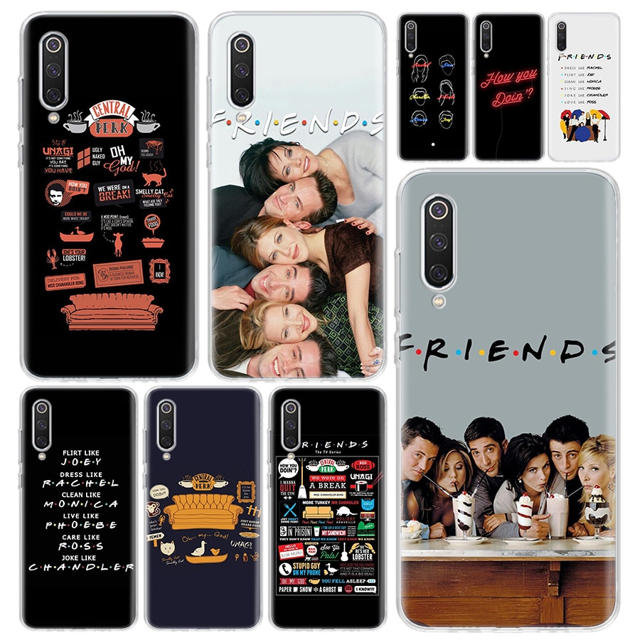Carcasa de teléfono para serie de tv Friends para Xiaomi Redmi Note 9S 8T 8 8A 7 7A 6 6A 5 10 K20 S2 K30 Pro Mi CC9 8 9 5X 6X Lite +