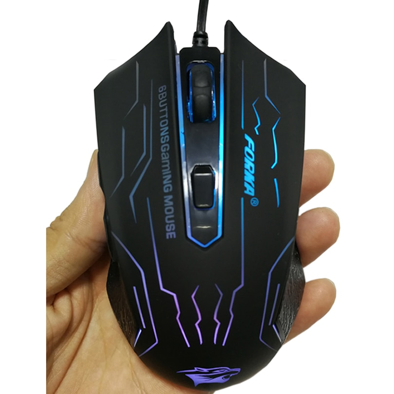 Silent/Sound Wired Gaming Mouse Gamer 6 Buttons 3200DPI USB LED Optical Computer Mouse Mice for PC Laptop Game LOL Dota 2