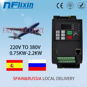 220V 0.75KW/1.5KW/2.2KW to 3 Phase 380V Mini VFD Variable Frequency Drive Converter for Motor Speed Control Frequency Inverter