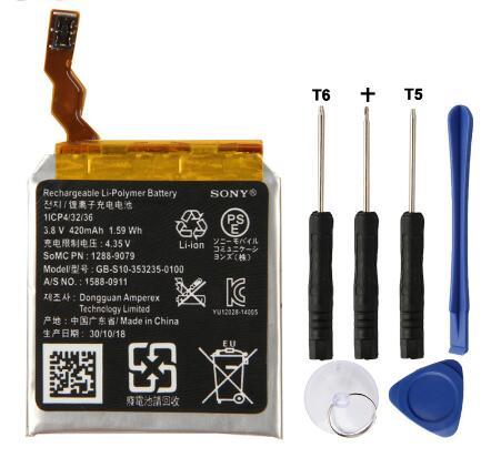 Gb-s10-353235-0100 para Sony Original Relógio Inteligente Bateria Smartver 3 Sw3 Swr50 3sas S10 420mah