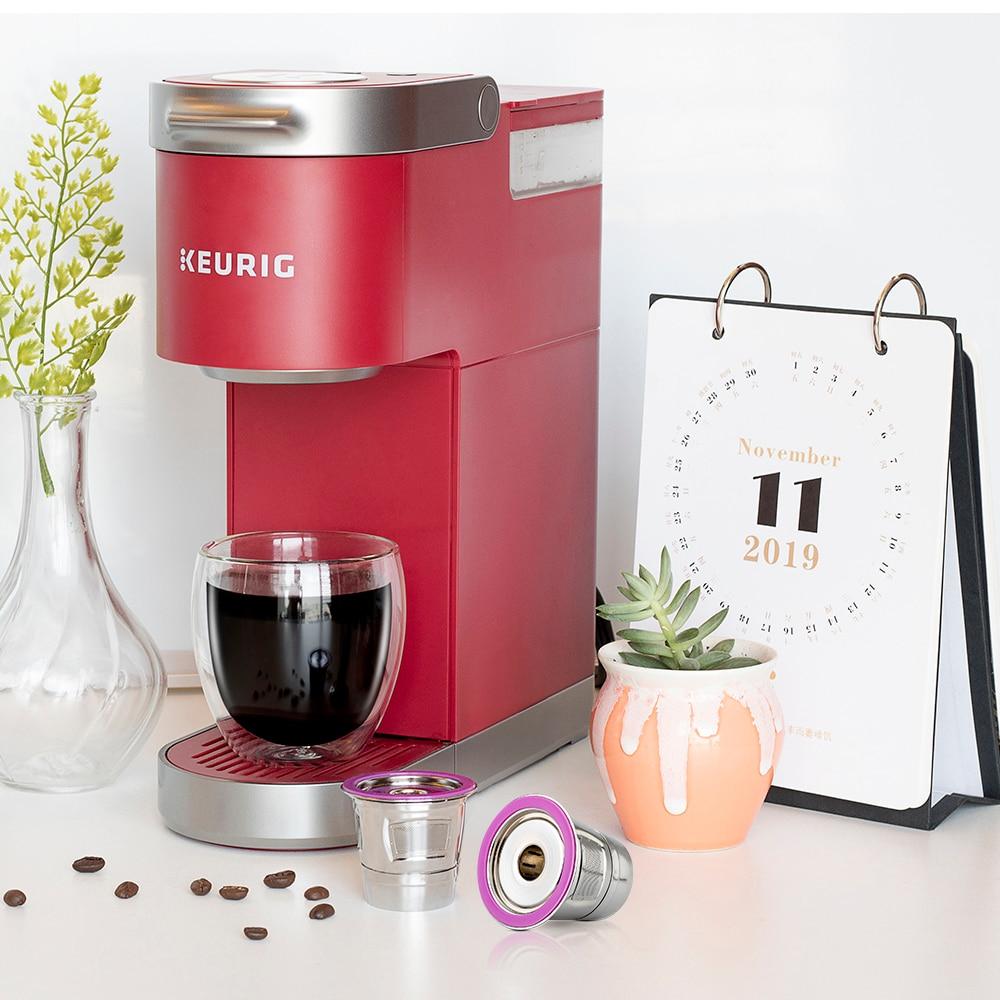 ICafilasSVIP Stainless Steel Reusable K Cup Coffee Filter Accessories Capsule for Keurig K mini Plus,K-Cafe,K-cafe K83,K-Latte