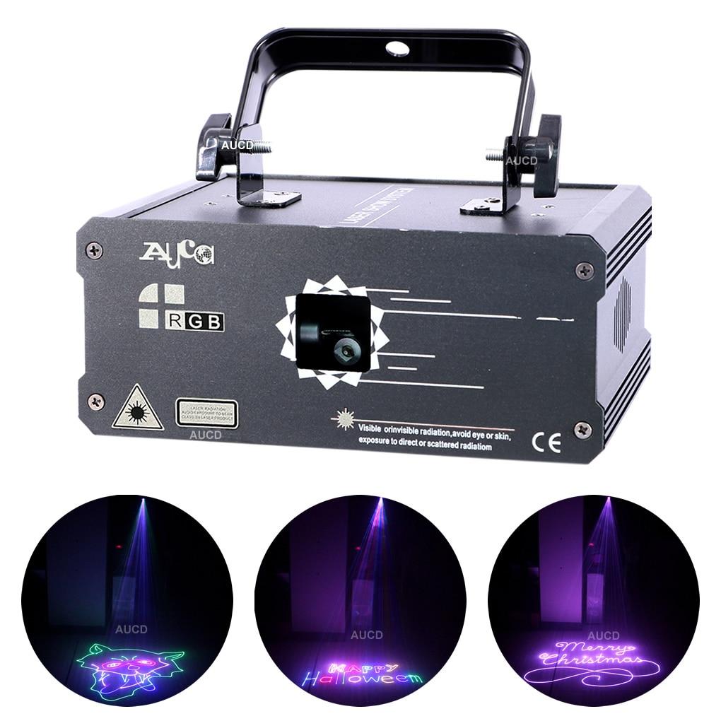 Music Effect Lighting DMX RGB Animation Scanner Laser Christmas Projector Light DJ Disco Party Beam Lights Luce 500mW/1W