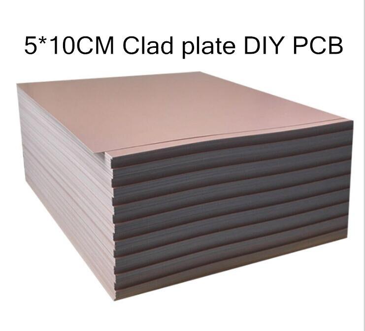 5 шт. печатная плата 5*10 см односторонняя медная плакированная пластина сделай сам