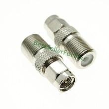 SMA prise mâle à Type F femelle   Connecteur adaptateur Coax dantenne RF, connecteur de convertisseur Nickel