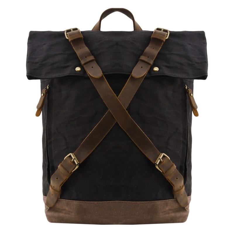 الرجال حقيبة كتف حقيبة السفر في الهواء الطلق مكافحة سرقة حقيبة ظهر للكمبيوتر مقاوم للماء بعد حقيبة تسلق الجبال على ظهره