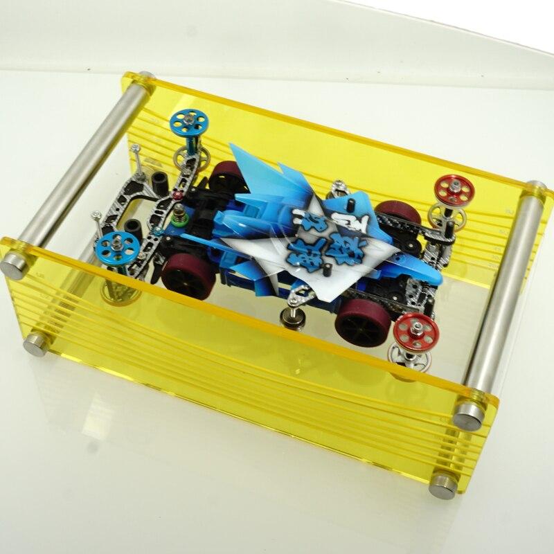 Caja de ajuste Multi-ángulo de carril 3/5 herramientas tamiya mini 4wd 3/5 pista Multi-ángulo ajuste Estación de derivación de freno