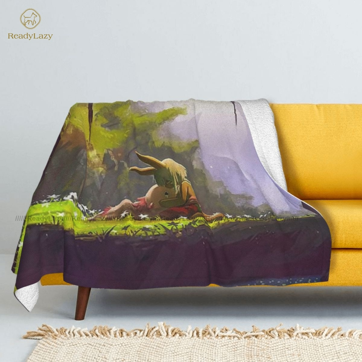 بطانية مصنوعة من الصوف للأريكة ، مفرش سرير ناعم ومريح ، شيربا