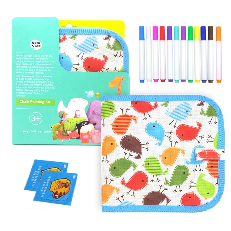 Magia Desenho Água Brinquedos para As Crianças Do Bebê Artesanato Pintura Livro Reutilizável Dobrável Placa de Giz Blackboard com Caneta para As Crianças Presentes