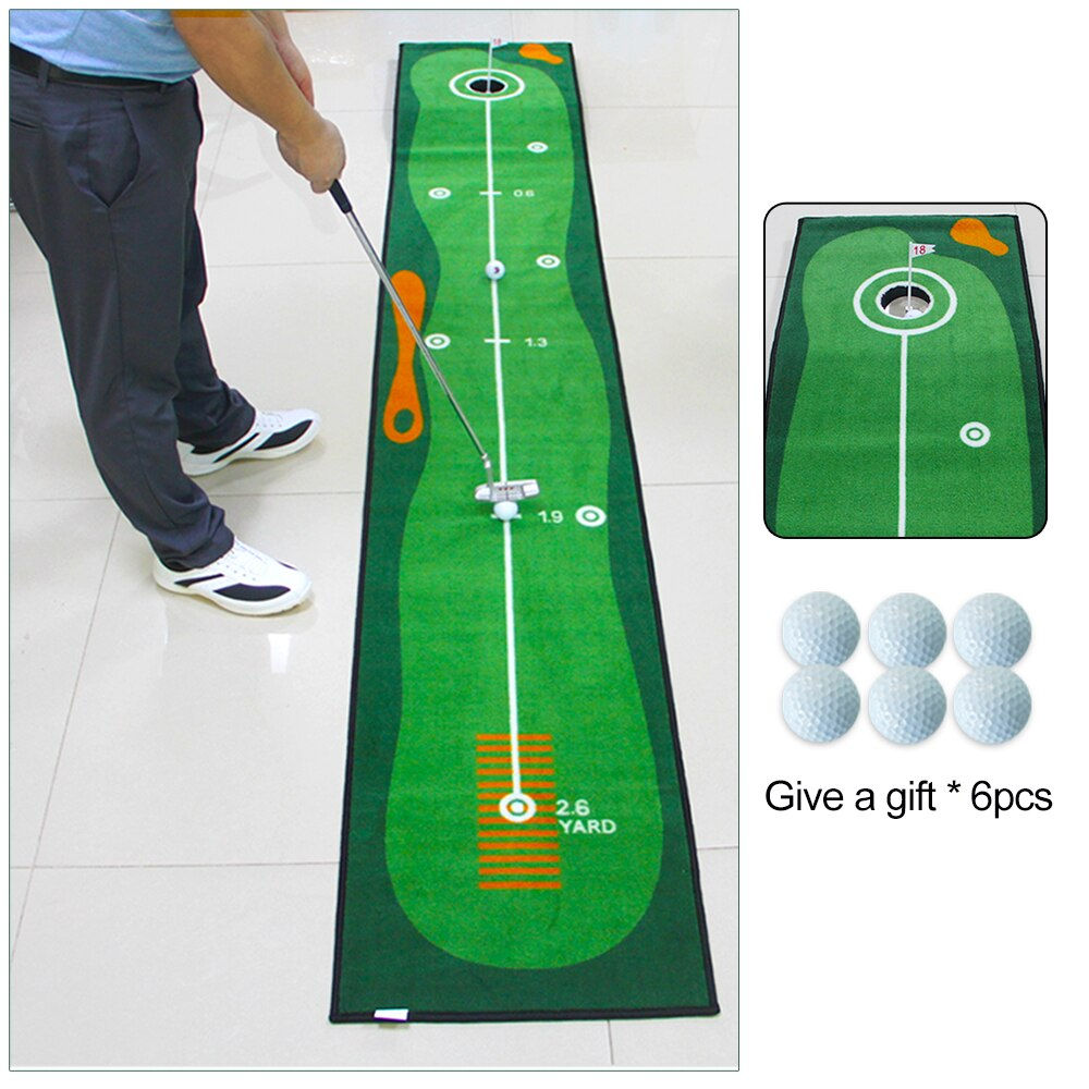 Golf Putting Green Mat 3m x 0.5m, Professional Practice Putting Mat, Golf Training Equipment Accessories Aid for Indoor Outdoor