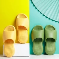 new solid color bathroom non slip thick sole fashion men women slippers summer cool indoor home soft beach eva simple flip flops