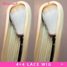 Perruque Lace Closure Wig brésilienne non-remy lisse-Jazz Star   Blond 613, 4*4, pre-plucked, avec Baby Hair