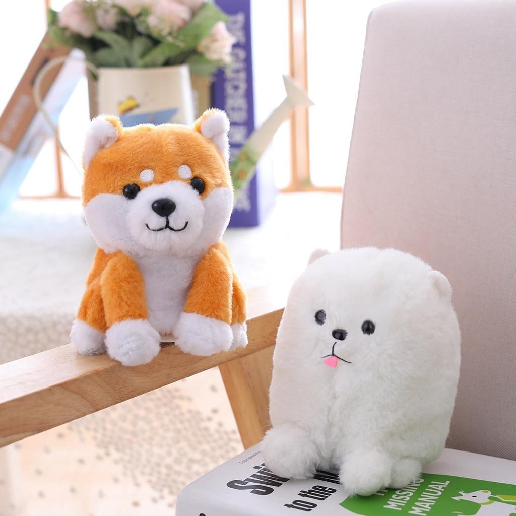 Brinquedo de pelúcia eletrônico filhote de cachorro bonito registros sons mimicry shiba inu cão de pelúcia boneca que para crianças aniversário gifi
