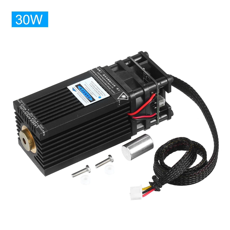 Módulo a laser profissional 450nm 5.5w-30w, cabeça azul para máquina de gravação a laser, ferramenta de corte, marcação de madeira