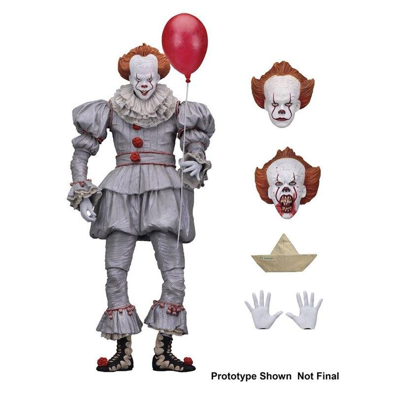 Stephen king é o palhaço pennywise figura pvc horror figuras de ação collectible modelo brinquedo
