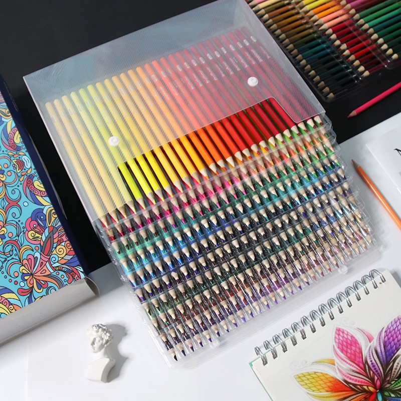 Brutfuner 48/120/160/180/260 Professional Oil Color Pencil Soft Wood Watercolor Colored Pencils Set Drawing School Art Supplies
