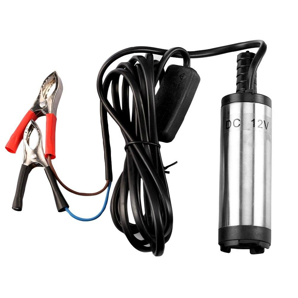 Bomba sumergible eléctrica de 12V, 24V, 12L/min, CC, para bombeo de aceite...