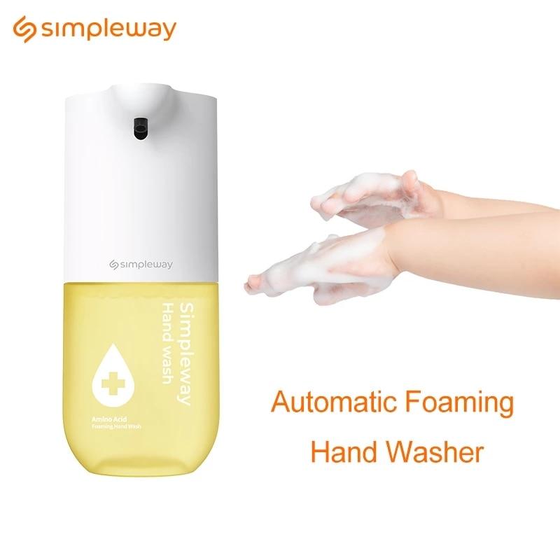 Simpleway – Lave-mains automatique à induction,capteur infrarouge, désinfectant pour les mains, distributeur sans contact de savon pour nettoyage, 300 ml, 0,25 s,