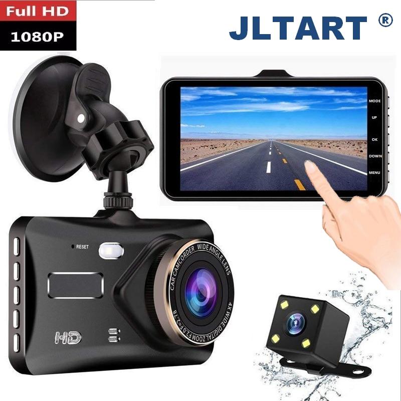 "jltart Dash cam Dual Lens car DVR Full HD 1080P4""Touch Screen IPS With Backup Rear Camera Registrator Night Vision Video Recorde"