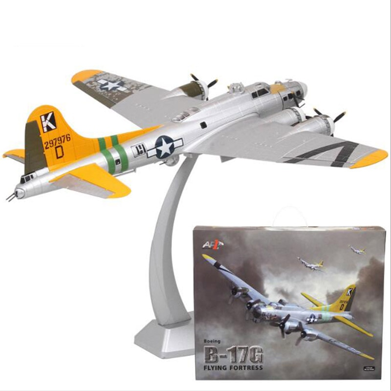 1/72 escala americana WWII B-17G Avión de bombardero remoto clásico Retro Carrier modelo de caza juguetes de aleación de fundición estática regalo de avión