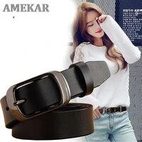 fashion retro women belt belts for women female lady metal leather double buckle waist belt waistband high quality