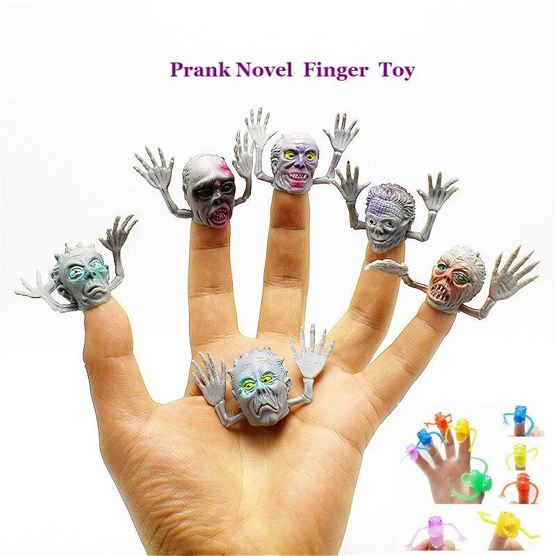 6pc Prank Novel Pastic Dinosaur Finger Puppet Finger Set Tells Story Mini Finger Set Twisty Egg Toy Stress Toy Funny Gift neje dg0006 1 mini finger touch drums set musical toy silver black