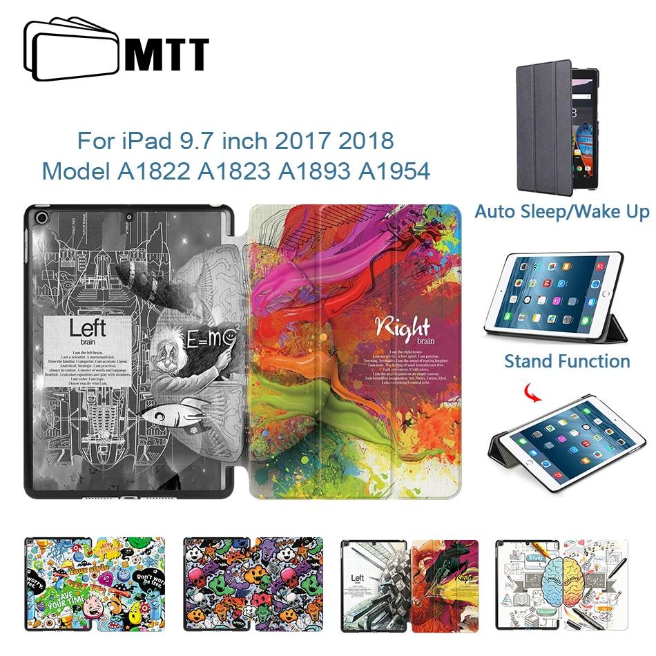 Funda MTT para Apple iPad de 9,7 pulgadas A1893 A1954 2017 2018, funda de piel sintética con tapa, cubierta protectora inteligente para tableta, funda A1822 A1823