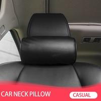 Подушка для шеи на сиденье автомобиля, защитная подушка для шеи из искусственной кожи для автомобильного подголовника, удобная подушка для ...