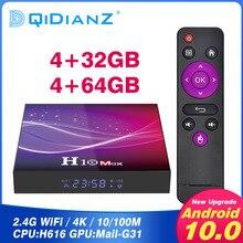 H10 MAX Android 10 Smart TV Quadcore cortex-A53 GPU Mali-G31 MP2 smart tv box android SDRAM 4 GB FLASH 32/64 GB tv box