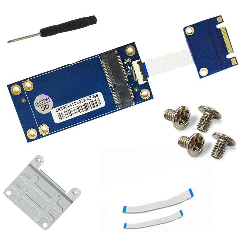 Adaptador mSATA a m2 6,0 Gbps mSATA Mini PCI-E 3,0 SSD a NGFF m2 B llave SATA tarjeta adaptador de interfaz soporte tamaño completo tamaño medio