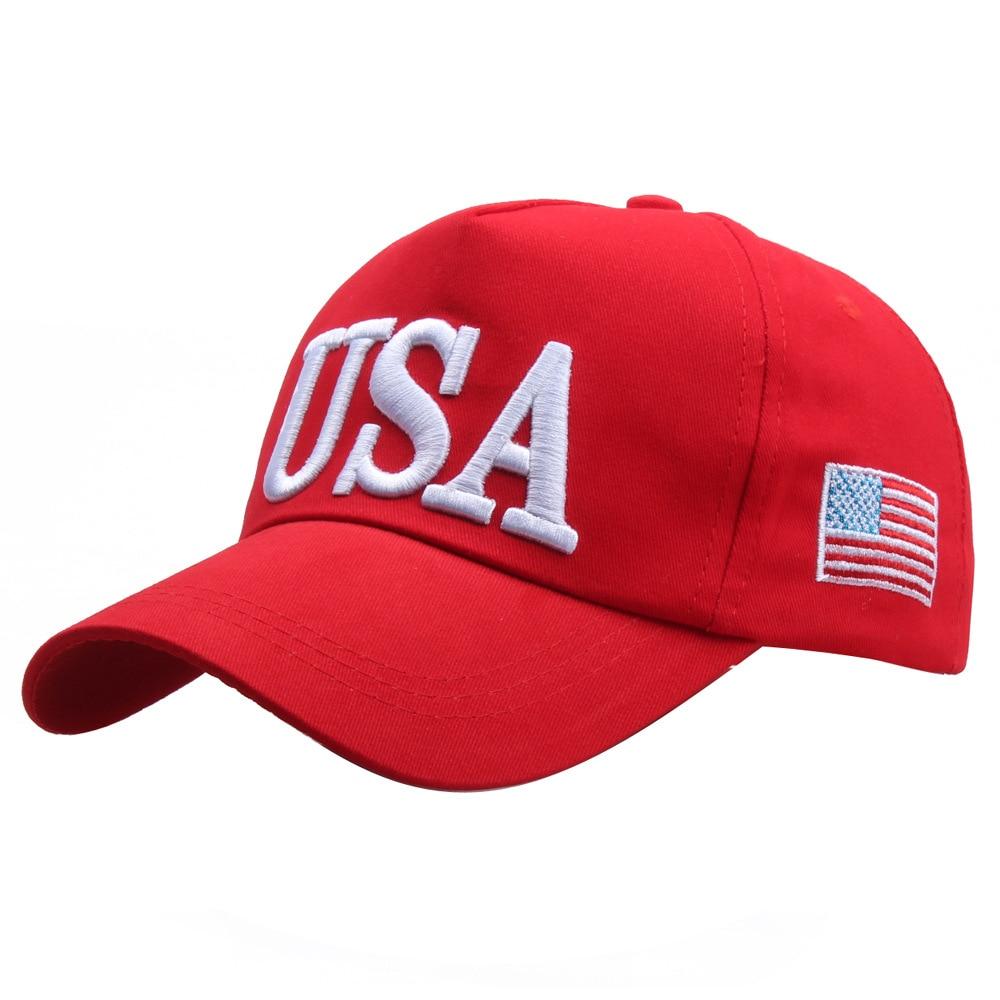 USA Baseball Cap Embroidered American Flag Hat Adjustable Dad Hat Hip Hop 5 Panel Women Cap Casquette caps