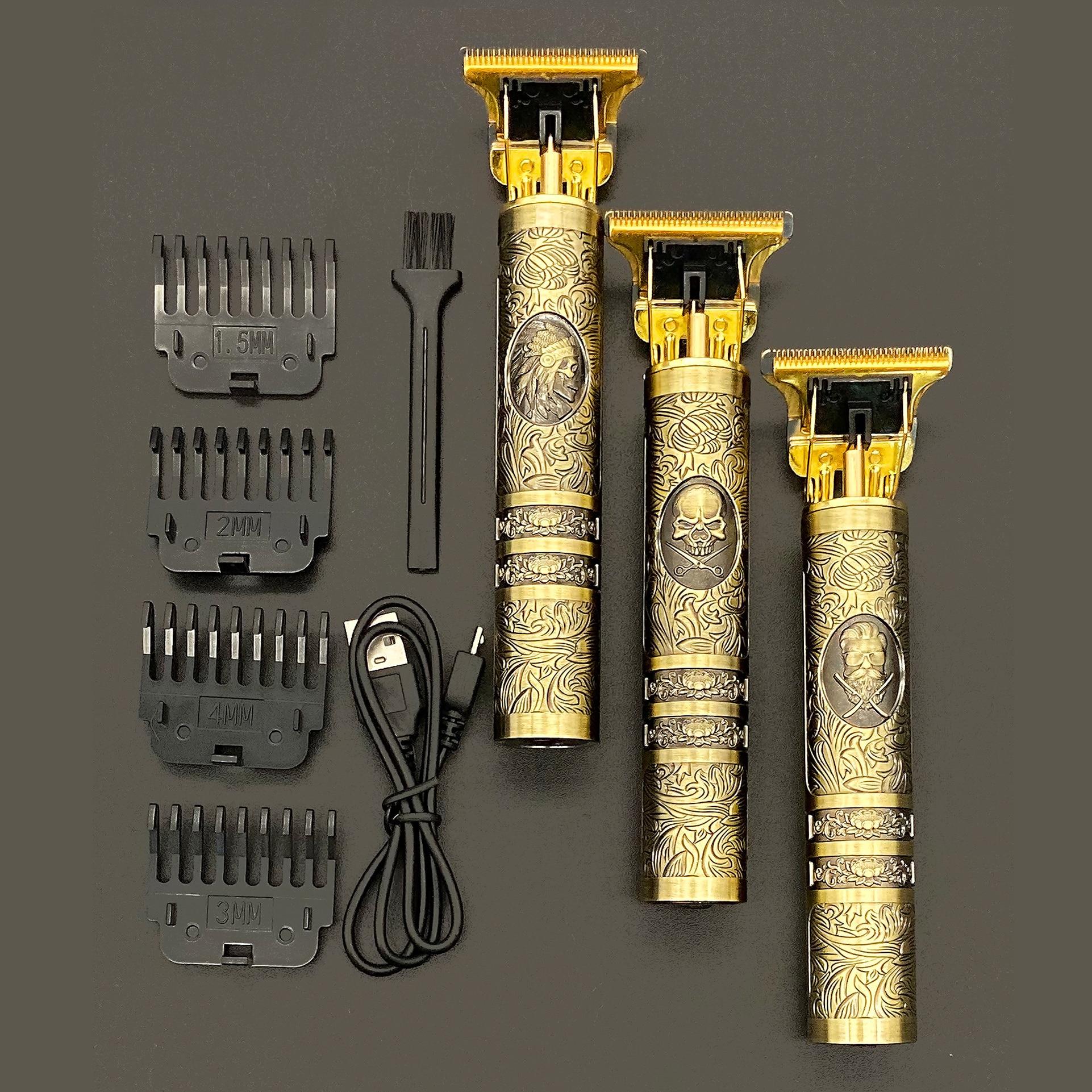 2021 USB T9 قابلة للشحن مقص الشعر الكهربائية الشعر المتقلب اللاسلكي ماكينة حلاقة المتقلب 0 مللي متر الرجال الحلاق آلة قص الشعر للرجال