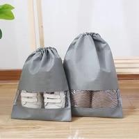 waterproof shoes bag for travel portable shoe storage bag organize non woven tote drawstring bag