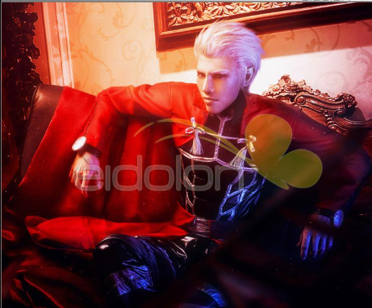 Stock! Fate Stay Night Archer Cosplay traje rojo abrigo completo en stock