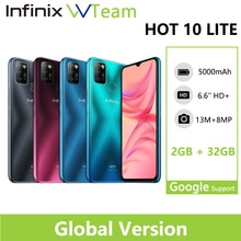 Infinix HOT 10 LITE Global 2GB 32GB Mobile Phone 6.6''HD 1600*720P 5000mAh Battery 13MP Camera Helio