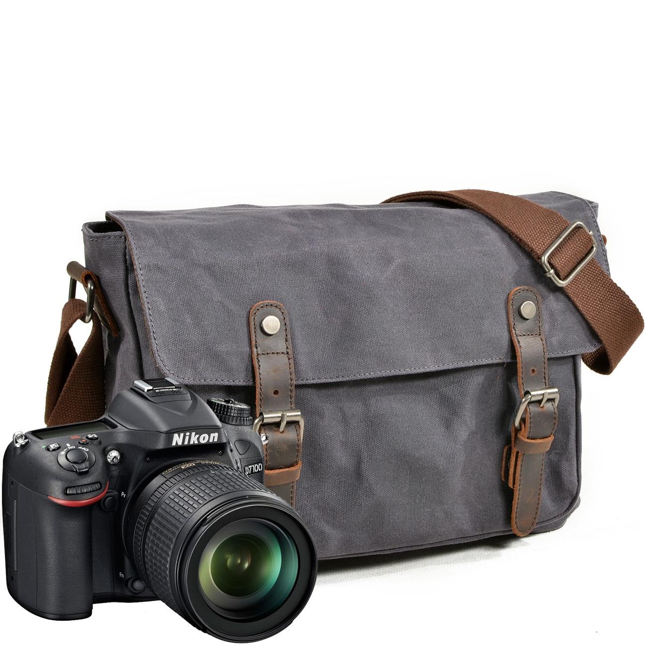 Sac appareil Photo étanche SLR appareil Photo numérique sac simple crieur professionnel sac à main grande capacité messager Photo homme femme sacs