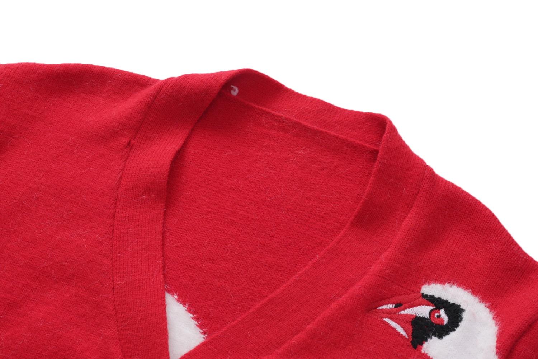 Winter  2021 Sweater Women Sweater Red V  Neck Long Sleeve Fashion Cardigan  S ML enlarge