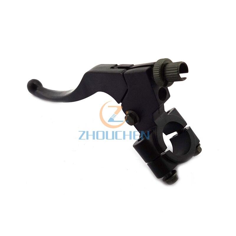 Aleación negra-ensamblaje de palanca de freno de manija izquierda de 7/8 y 22mm para Moto de cross de 47cc y 49cc, ATV, minimoto, 97cc, Baja, ciclomotor