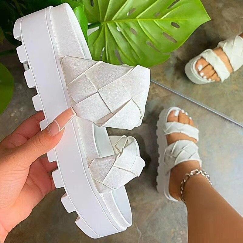 2021 Women's Sandals Summer Flat Shoes Female Casual Wedge Slides Sandal Woman...