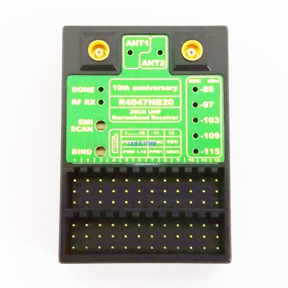 أحدث جهاز استقبال Vesion RMILEC V2 جهاز استقبال T4047NB20 433 ميجاهرتز UHF 20CH Rx نظام راديو طويل المدى يعمل بالتحكم عن بعد